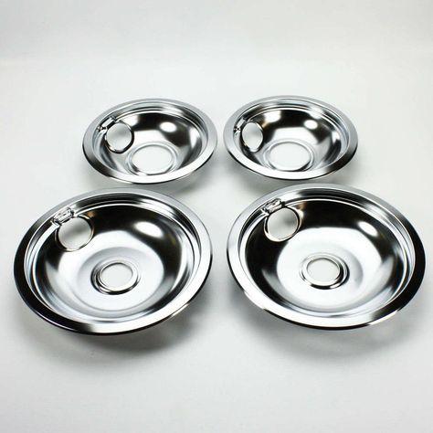 4pc Drip Pans Bowl Set 6 8 Frigidaire Kenmore Whirlpool Stove