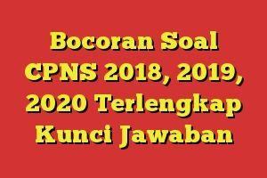 Bocoran Soal Cpns 2018 2019 2020 Terlengkap Kunci Jawaban Persiapan Menghadapi Cpns 2018 Soal Cpns 2018 Matematika Kelas 4 Matematika Pelajaran Matematika