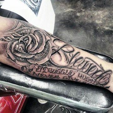 Tatuajes Bacanos Para Hombres En El Brazo Maoritattoos Blessed Tattoos Tattoos For Guys Money Rose Tattoo