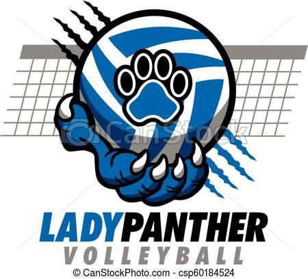Lady Panther Volleyball Vector Stock Illustration Royalty Free Illustrations Stock Clip Art Icon Stock Clipart Icon Volleyball Designs Volleyball Art Icon