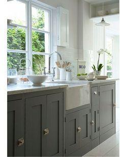 20 idées déco pour une cuisine grise | Pinterest | Bac evier, Gris ...