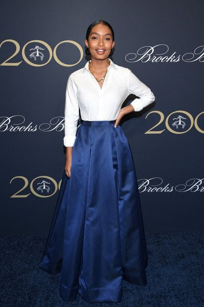 Yara Shahidi attends the Brooks Brothers Bicentennial Celebration.