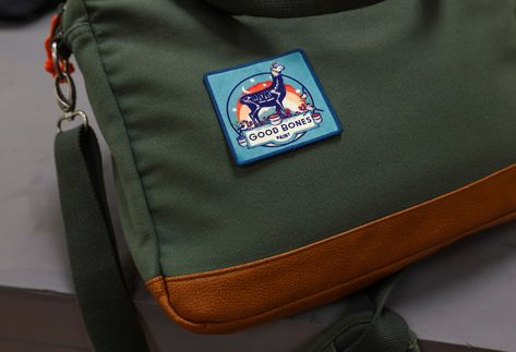 Good ol' fashioned Good Bones swag. Iron-on patch, perfect for aprons, smocks, satchels, and llama lovers!