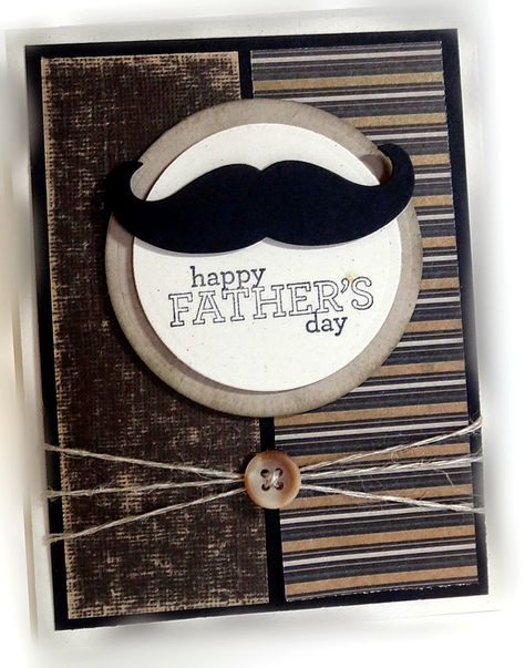 Me, My Stamps and I - SU - Delightful Dozen, Mustache Framelit - Father's Day, masculine