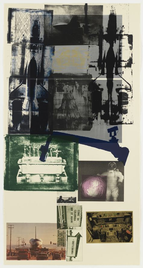 Lithograph with stencil and paper and gold l… Robert Rauschenberg. Lithograph with stencil and paper and gold leaf collage. Robert Rauschenberg, Collages, Collage Art, Moma, Mark Rothko, Art Inspo, Art Museum, Photo Art, Contemporary Art