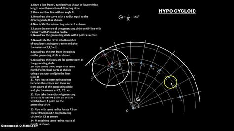 How To Draw Hypocycloid Engineering Drawing Drawings