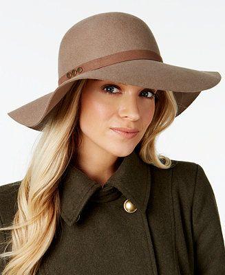 778260311 Nine West Studded Floppy Hat - Handbags & Accessories - Macy's ...