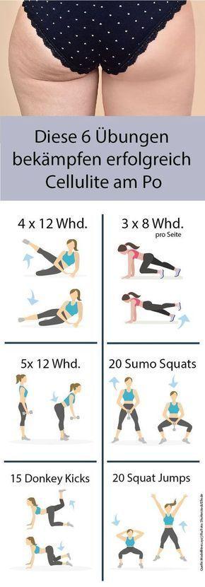 Egal, wie oft wir ins Fitnessstudio rennen, ein Problem bleibt bis zum Schluss: Cellulite. Hier sind sechs besten Übungen für einen straffen Po.