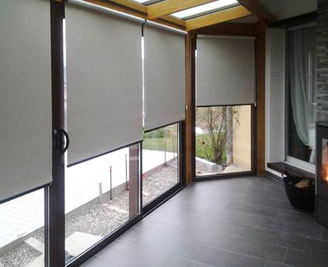 Sichtschutz Rollos Im Wintergarten Wintergarten Sichtschutz Fenster