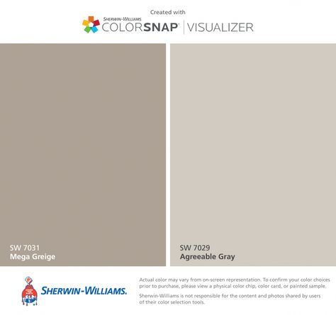 I found these colors with ColorSnap® Visualizer for iPhone by Sherwin-Williams: Khaki Shade (SW Nantucket Dune (SW