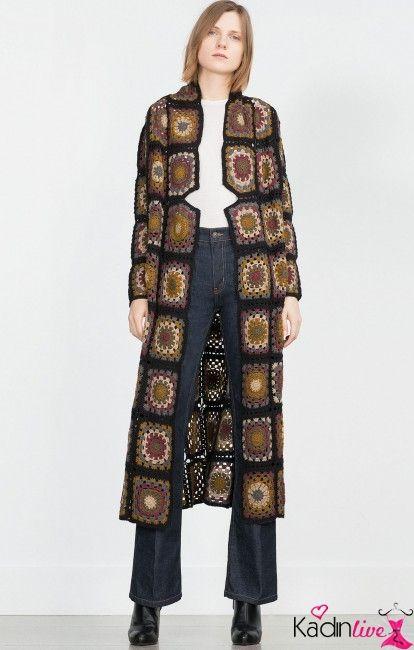 Zara Uzun Orme Ceket Modelleri Kadinlive Com Moda Stilleri Zara Kadin Modasi