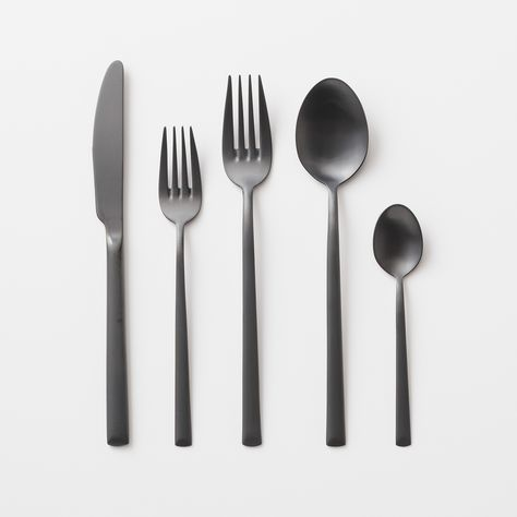 Elevated Flatware Matte Black Beautifulbuys Flatware Kitchen