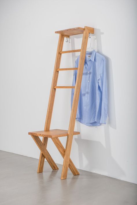 TB.2 Modern day Valet Stand/ Ladder Chair in Oak | Clothing valet ...