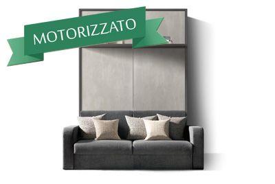 Divano Trasformabile In Letto A Castello Prezzi.Letto A Scomparsa Motorizzato Matrimoniale Verticale Con Divano E