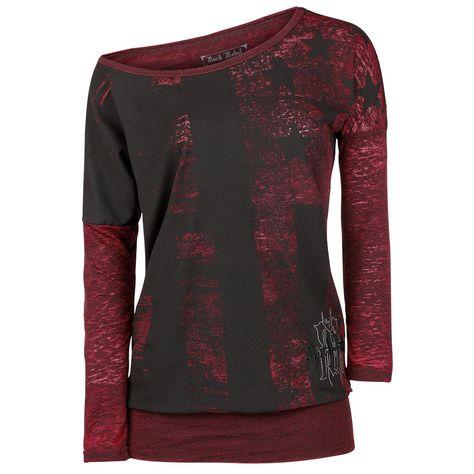 T-shirt manches longues Rock Rebel by EMP »Ladies Burnout Tee«   Dispo chez EMP   Plus de Manches longues Basic sur notre site en ligne ✓ Prix imbattables !