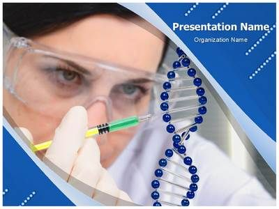 Dna Double Helix Powerpoint Template  Ppt    Template