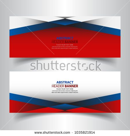 Set Of Geometric Abstract Header Banners Background Template With
