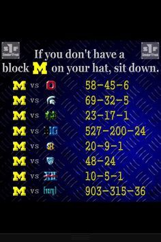 2019 Michigan Wolverines Football Schedule Printable