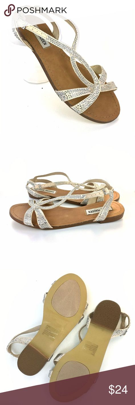 097b028b5 NWT Steve Madden Rhinestone Sandals 6.5 Starzz New with original stickers  on the bottom Color is