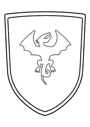 Ritterschild Malvorlage Zum Ausdrucken Wappenschild Kostenlos