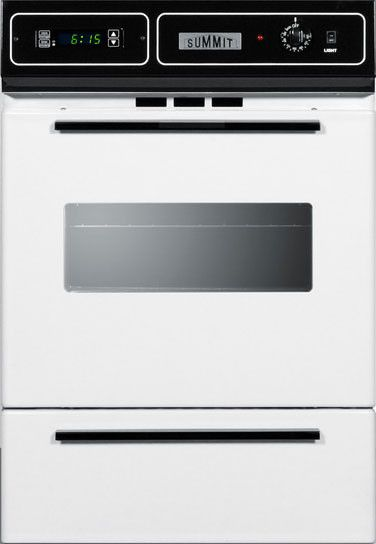 Summit 24 Single Gas Wall Oven White Wtm7212kw Wall Oven Gas