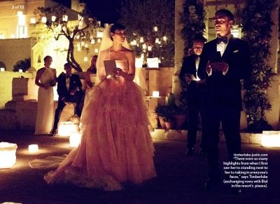 Justin Timberlake And Jessica Biel Exchange Vows At Their Italian Wedding People Magazine Timberbiel Pinterest