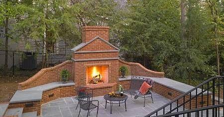 7 outdoor brick fireplaces ideas