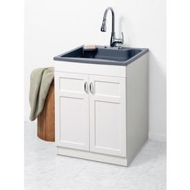Zenna Home 24 In X 24 25 In 1 Basin Gray Freestanding
