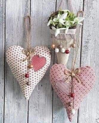 Pin De Susana Noemi Avendaño En Hearts Love Corazones De Tela Corazones Bordados Manualidades