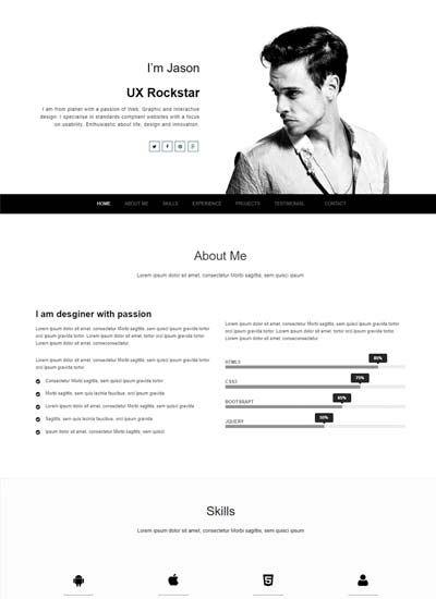Bootstrap Resume 2020 Webthemez Resume Template Free Free Resume Template Download Cv Resume Template