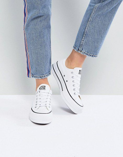 Converse Chuck Taylor Ox Platform White Sneakers in 2020