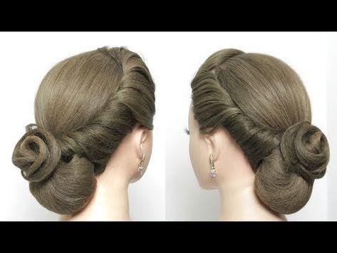 Easy Elegant Bun Hairstyle For Long Hair Tutorial Bridal Updo Youtube Bun Hairstyles For Long Hair Hair Tutorial Bun Hairstyles