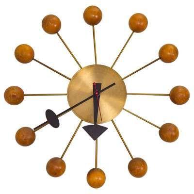 Original 1950s Vintage George Nelson Ball Clock Nelson Ball Clock Clock Antique Clocks For Sale
