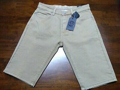 Vintage Genes Black Blue French Terry Denim Shorts Size 30 34 or 36 NWT Slim Fit