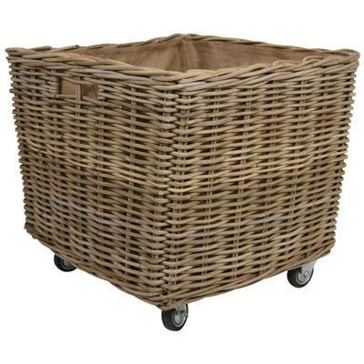Log Baskets Kubu Rattan Square Extra Large Storage Log Basket
