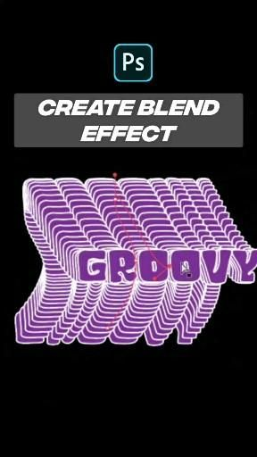 Create text blend effect in Illustrator