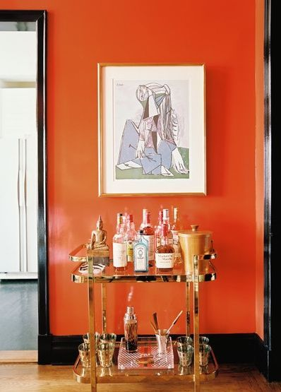 Color Combination Fancy Dining Room Orange Chairs Awesome Wallpaper