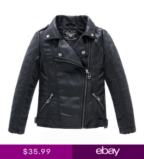 f03c1d8e2674 Toddler Kids Boys Girls Cool Biker Leather Jacket Coats Children Motorcycle  Coat