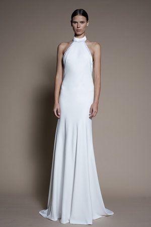 Alon Livne Eliana Wedding Gown An Old Hollywood Inspired Timeless Sleeveless Collar Go High Neck Wedding Dress Halter Wedding Dress Wedding Dress Halter Neck