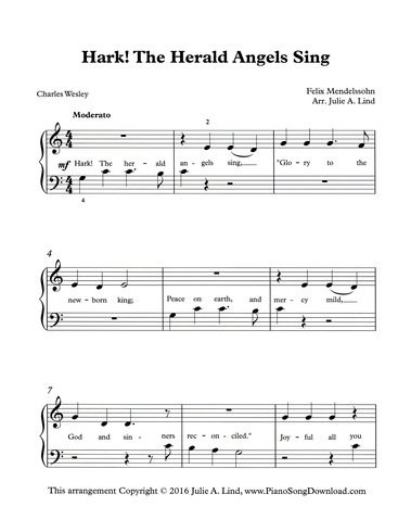 Hark The Herald Angels Sing Pdf With Images Hymn Sheet Music