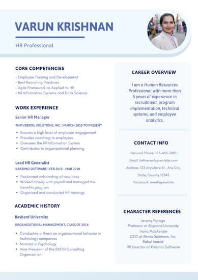 Customize 97 Corporate Resume Templates Online Canva Job Resume Examples Resume Template Resume Templates