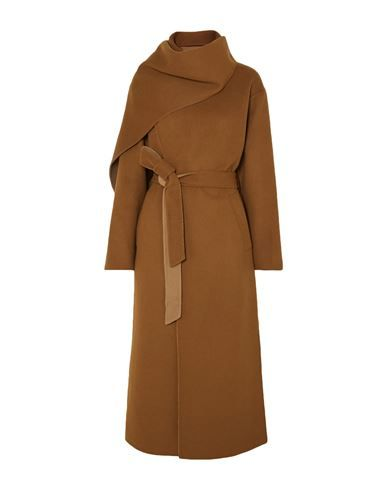 Baize No appliqués Solid color Single-breasted  Collar with draped neckline Multipockets Long sleeves Rear slit Unlined Cheap Winter Coats, Best Winter Coats, Winter Coats For Women, Dress Coats For Women, Camel Coat Outfit, Mode Mantel, Collection Capsule, Double Breasted Coat, Winter Wear