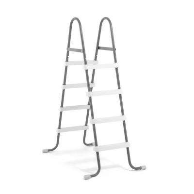 Intex Steel Frame Pool Ladder For 48 In Wall Height Above Ground Swimming Pools 28066e The Home Depot Swimming Pool Ladders Above Ground Pool Ladders Pool Ladder