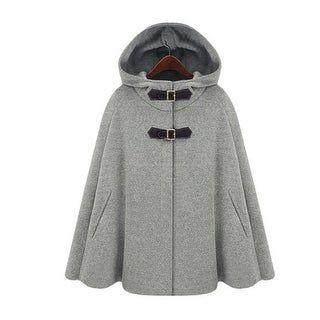 Poncho Cape, Wool Poncho, Cape Jacket, Winter Poncho, Grey Poncho, Poncho Mantel, Cardigan Gris, Pullover Shirt, Hooded Cloak