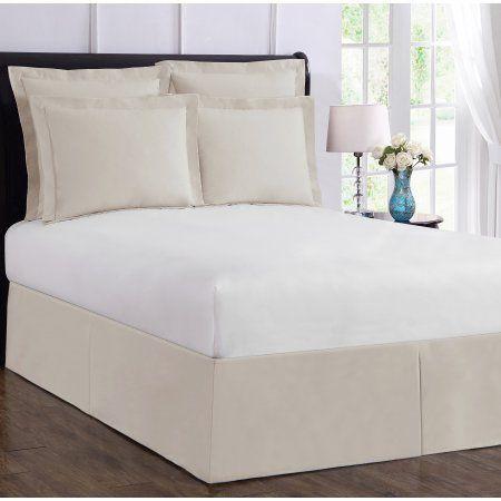 White Simple Fit Wrap Around Adjustable Bed Skirt Adjustable