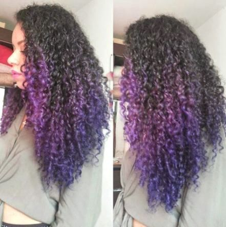 Here Are The 100 Best Hair Trends For The Year 2020 In This Gallery You Will Find Hairstyles For All Seasons In 2020 Dyed Curly Hair Hair Styles Curly Purple Hair