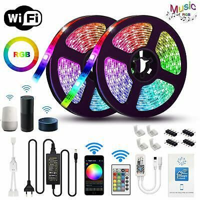 10m 5m Led Strip Light Rgb Tape Lamp Waterproof Alexa Google Smart Wifi Full Kit Ebay Led Lighting Bedroom Led Strip Lighting Strip Lighting