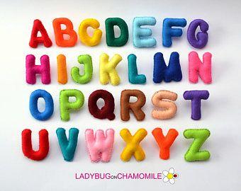 Felt Magnet Alphabet With Corresponding Shapes Appropriate Etsy Felt Magnet Felt Letters Alphabet