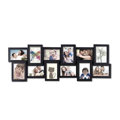 Adeco Trading 12 Opening Decorative Wall Hanging Collage Picture Frame Framed Photo Collage Frame Wall Collage Collage Picture Frames