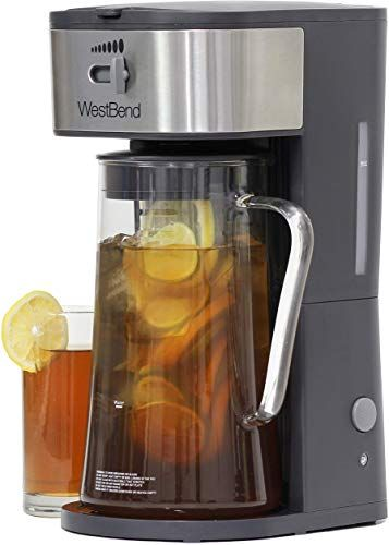 Best Seller West Bend It500 Fresh Iced Tea Coffee Maker Includes Infusion Tube Customize Flavor Features Auto Shut Off 2 75 Quart Black Online In 2020 Iced Tea Maker Iced Tea Iced Coffee Maker